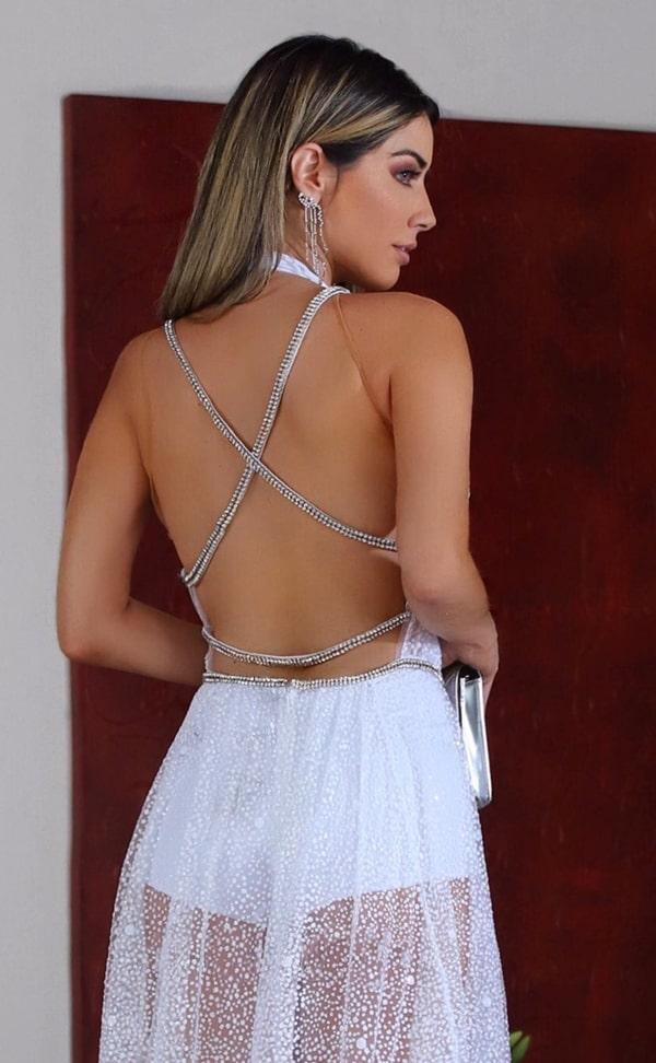 vestido longo branco com decote nas costas para reveillon
