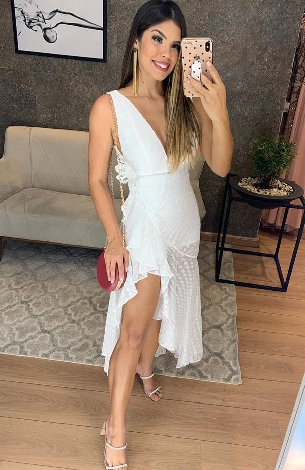 Vestido branco curto para reveillon 2020
