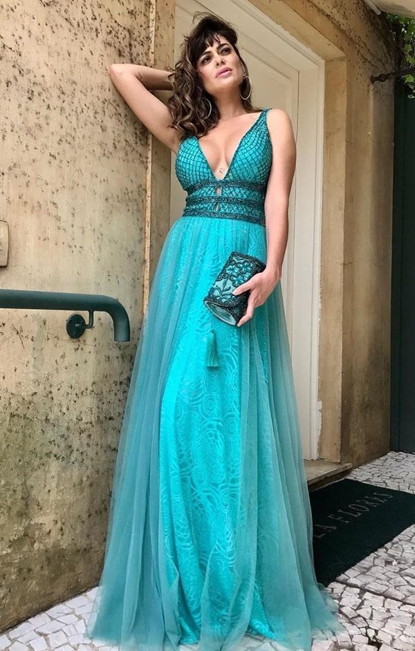 vestido verde tiffany para madrinha de casamento