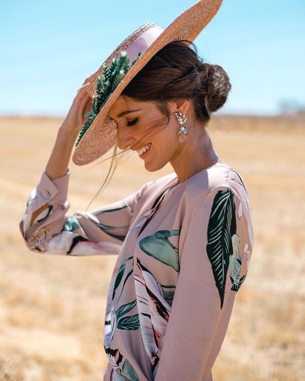 chapéu para casamento ao ar livre