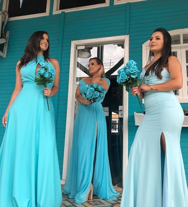 vestido azul tiffany para madrinha de casamento