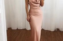 Slip Dress longo vestido de festa de cetim