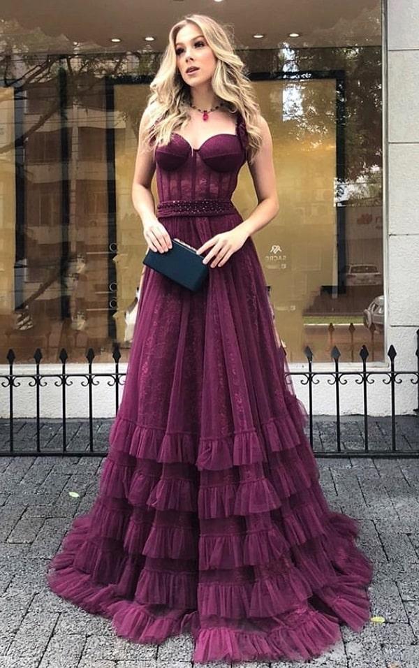 vestido de festa vinho bordô  para madrinha de casamento