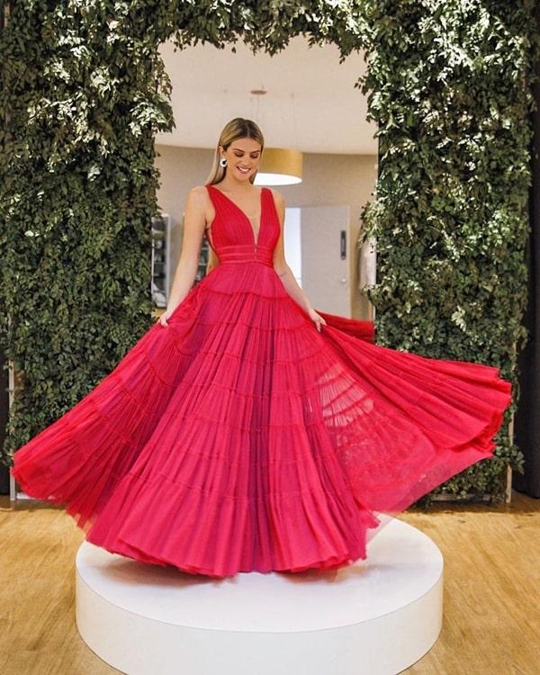 vestido vermelho para madrinha de casamento