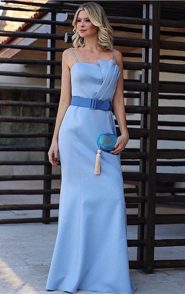 vestido logo azul serenity justo
