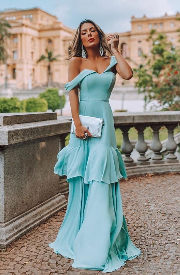 vestido simples para madrinha de casamento ou convidada